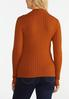 Plus Size Ribbed Mock Neck Sweater alternate view