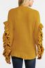 Plus Size Ruffled Sleeve Sweater alt view