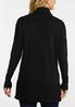 Plus Size Ribbed Cowl Neck Tunic Sweater alternate view