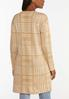 Plus Size Tan Houndstooth Cardigan Sweater alternate view