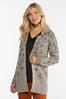 Plus Size Leopard Cardigan Sweater alternate view