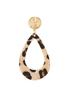 Textured Leopard Clip- On Earrings alternate view