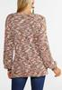 Rose Olive Marled Tunic Sweater alternate view