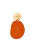 Wooden Citrus Clip- On Earrings alternate view