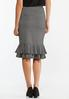 Plus Size Flounced Houndstooth Skirt alternate view