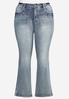 Plus Size Embellished Bootcut Jeans alternate view