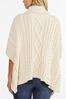 Cable Knit Poncho Sweater alt view