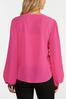 Plus Size Fuchsia Pullover Top alt view