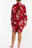 Plus Size Red Floral Sleep Shirt alt view
