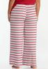 Plus Size Tasseled Stripe Sleep Pants alternate view