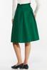 Green Belted Paperbag Skirt alt view