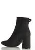 Wide Width Ribbed Side Ankle Boots alternate view