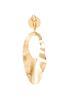 Crinkled Gold Metal Earrings alternate view