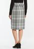 Checkered Pencil Skirt alternate view