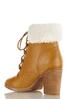 Wide Width Sherpa Cuff Ankle Boots alternate view