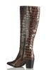 Wide Width Tall Crocodile Textured Boots alternate view