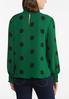 Plus Size Dotted Mock Neck Top alternate view