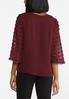 Plus Size Dotted Bell Sleeve Top alternate view