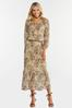 Plus Size Mesh Paisley Midi Dress alternate view