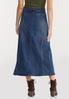 Plus Size Seamed Panel Denim Skirt alternate view