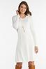 Plus Size Ivory Knit Sweater Dress alternate view