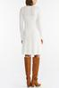 Plus Size Ivory Knit Sweater Dress alt view