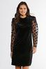 Plus Size Dotted Organza Sleeve Dress alternate view