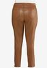Plus Size Caramel Coated Jeans alternate view