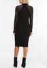 Plus Size Illusion Sleeve Sweater Dress alternate view