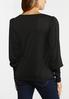 Plus Size Solid Puff Sleeve Top alternate view