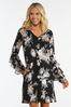 Plus Size Ruffled Floral Swing Dress alternate view