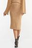 Caramel Cable Knit Skirt alternate view