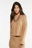 Plus Size Caramel Cable Knit Sweater alternate view
