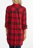 Plus Size Twinkle Red Plaid Tunic alternate view