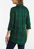 Plus Size Green Plaid Tunic alternate view