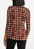 Plus Size Merlot Houndstooth Top alternate view