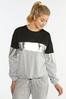 Metallic Colorblock Sweatshirt alternate view