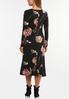 Plus Size Romantic Floral Midi Dress alternate view