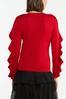 Plus Size Ruffle Sleeve Sweater alt view