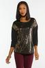 Plus Size Animal Sequin Top alternate view