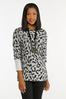 Plus Size Shimmery Leopard Tunic Sweater alternate view