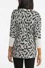 Plus Size Shimmery Leopard Tunic Sweater alt view