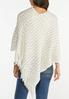 Ivory Sequin Sweater Poncho alternate view
