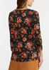 Plus Size Fall Floral Top alternate view