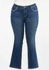 Plus Size Rhinestone Cross Embellished Jeans alternate view