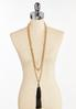 Long Layered Tassel Necklace alternate view