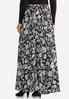 Plus Size Sweeping Floral Maxi Skirt alternate view