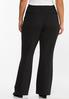 Plus Size Pintuck Flare Leg Pants alternate view