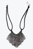 Crystal Fringe Bib Necklace alternate view