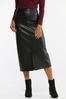 Plus Size Faux Leather Pencil Skirt alternate view